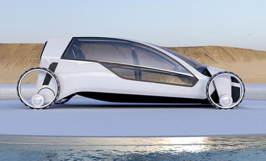 大众发布新款概念电动汽车 自带太阳能电池板