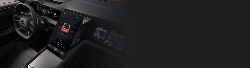 高合HiPhi X内饰曝光 智能数字多屏交互+IP前移非对称式星舰座舱