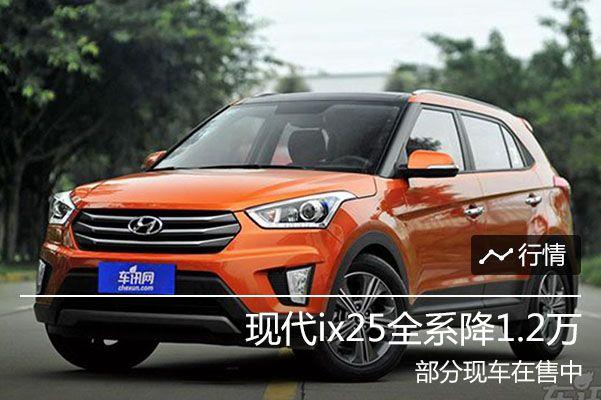 北京现代ix25全系降1.2万 部分现车在售