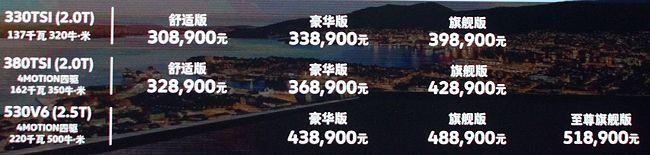 途昂顶配售价51.89万 欲抢夺X5未来客户?