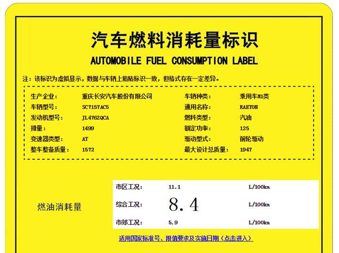长安睿骋1.5T车型信息曝光 动力与CS75相同