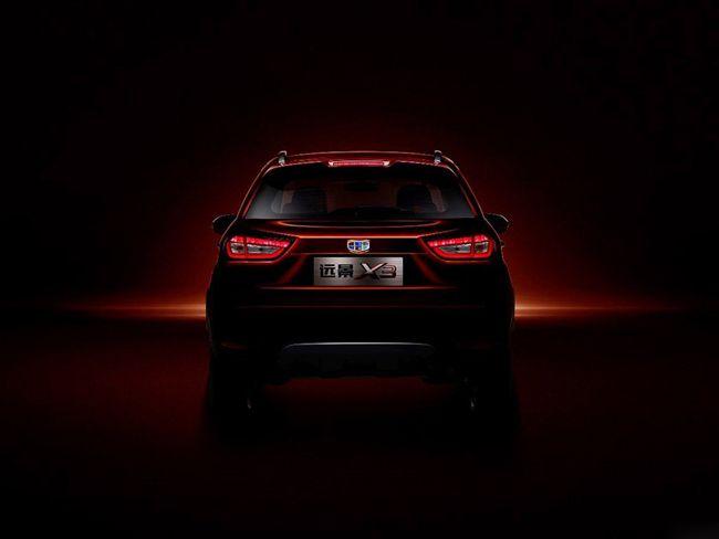 吉利远景X3车型预告图发布 或下半年上市