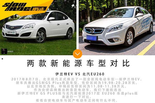 实用至上 北京现代全新伊兰特EV/北汽EU260