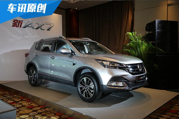 东风风神新AX7手动挡上市 售8.98-10.68万元