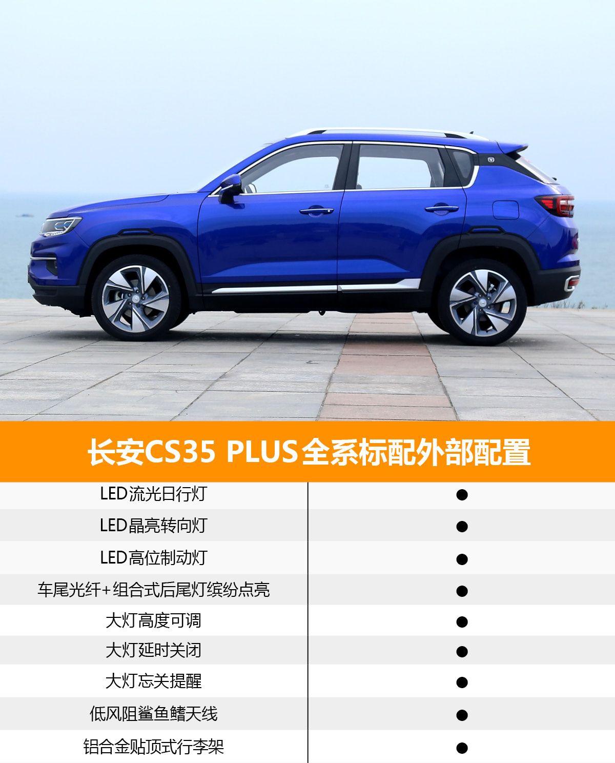首推自动酷联型 长安CS35 PLUS购车手册