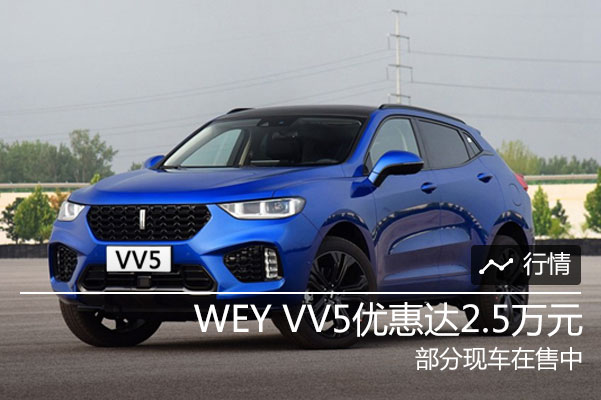 WEY VV5购车享现金优惠2.5万元 现车销售