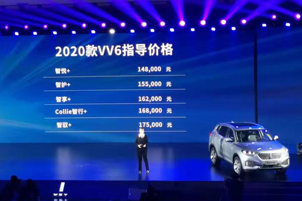 WEY 2020款VV6上市 售价14.8万元-17.5万元