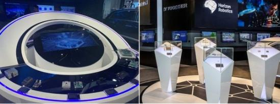 地平线展出与部分国际、国内客户合作的辅助驾驶和自动驾驶产品