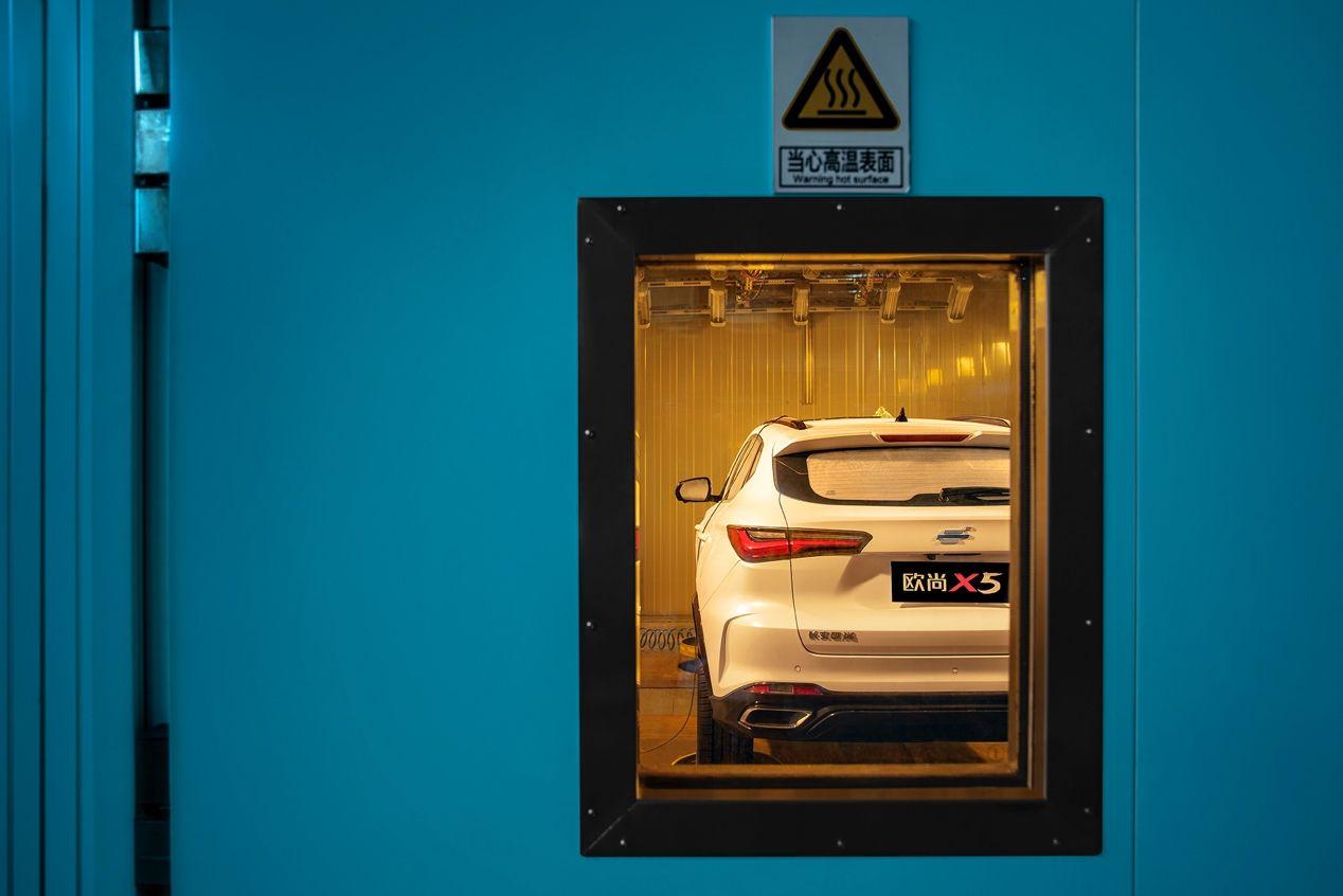 快看长安欧尚把汽车行业高度保密的封测实验全网曝光了