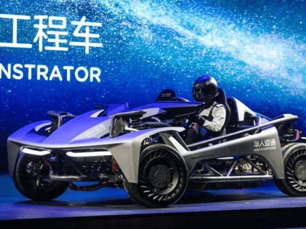 华人运通四轮转向轮毂 电机工程车-RE0
